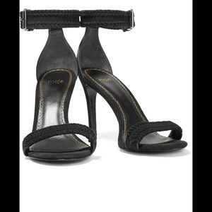 Maje black braided suede sandals. Size 38 (8)